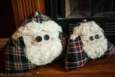 Santa Face Pillows