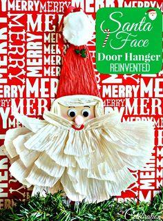 Santa Face Door Hanger