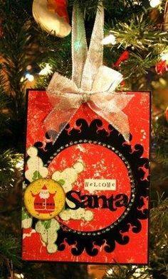 Welcome Santa Scrapbook Sign