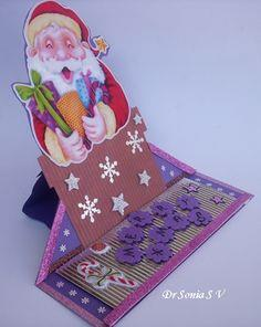 Santa Shaped Easel Card