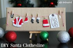 We Believe Santa Clothesline