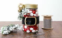 Dollar Store Santa Belt Jar