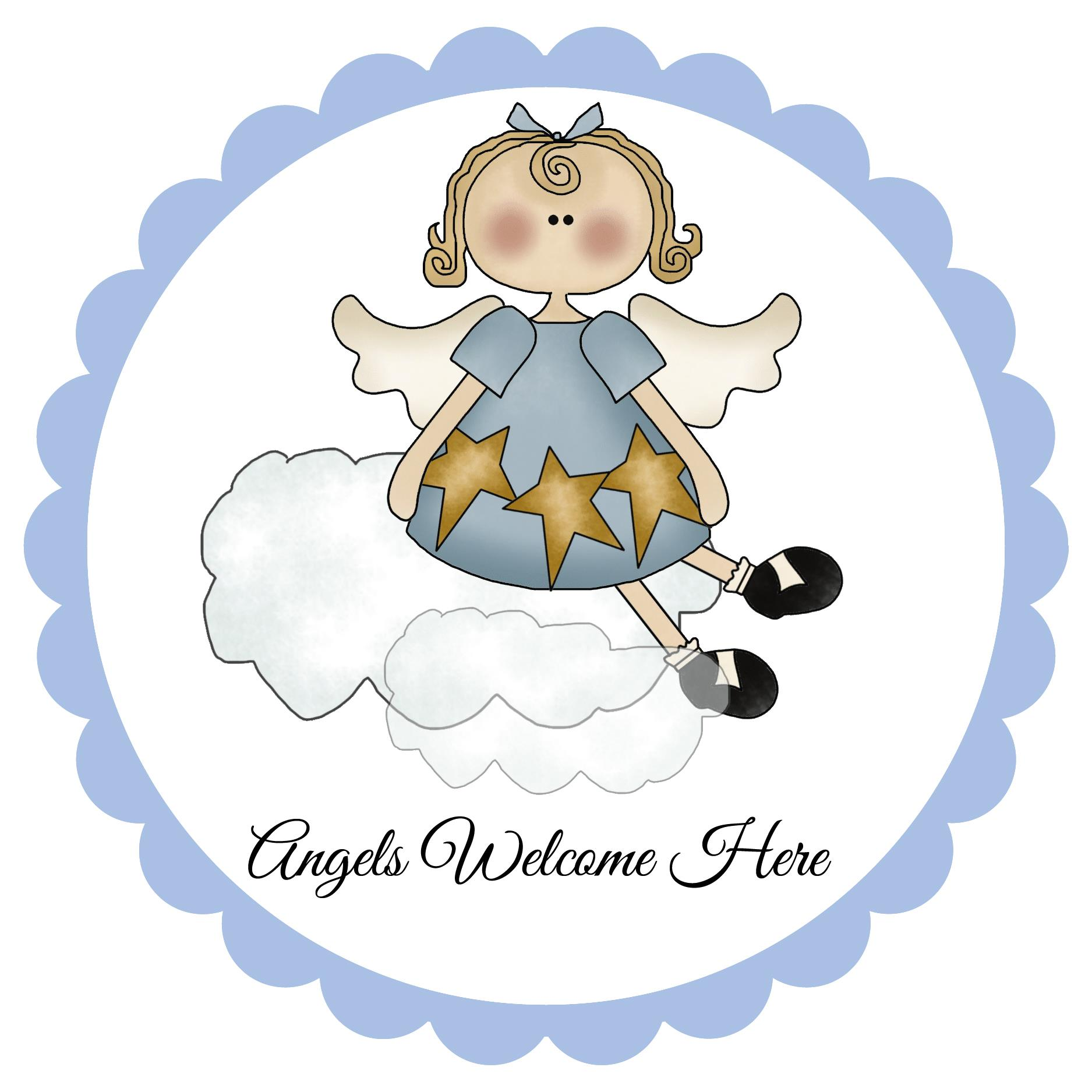 sayings angel angels welcome clip clipart signs