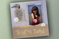 Surf 'N Sand Scrapbook Layout