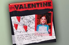 Valentine Scrapbook Layout