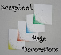 Scrapbook Page Decoration
