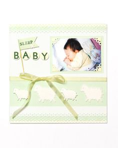 Sleep Baby Scrapbook Page
