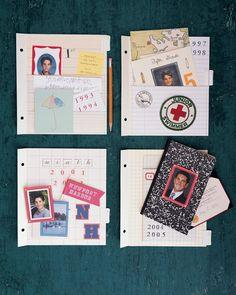 School Scrapbook Pockets