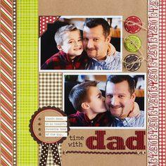 Dad Scrapbook Layout Ideas