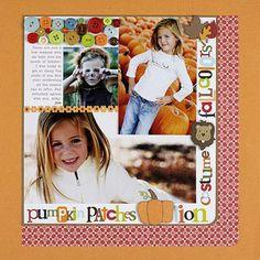 Fall Scrapbook Layout Ideas