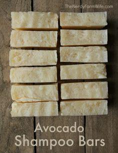 Avocado Shampoo Bars Recipe