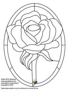 Rose Stained glass pattern