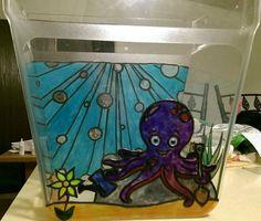 Stained Glass Octopus's Garden Fish Tank
