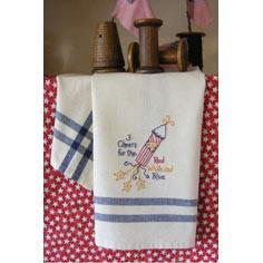 Summer Fireworks Tea Towel