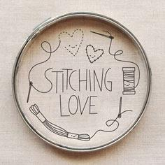 Stitching Love Embroidery Pattern