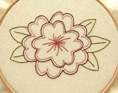 Free Flower Embroidery Pattern
