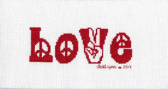 Retro Love Cross Stitch Pattern