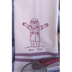 Summer Santa Tea Towel