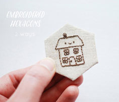 make embroidered hexagons