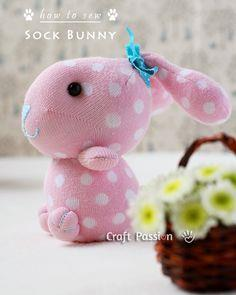 Sock Bunny - Sewing Pattern
