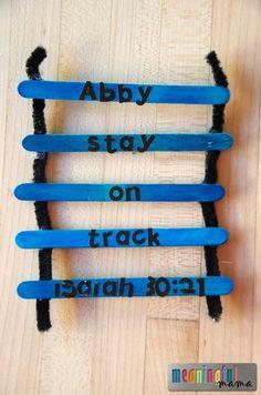 Stay on Track Bible Craft