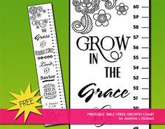 Bible Verse Printable Growth Chart