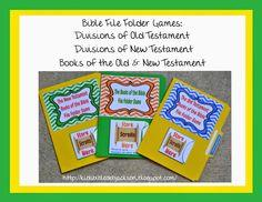 Bible File Folder Games