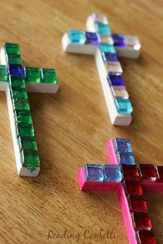 Easy mosaic crosses