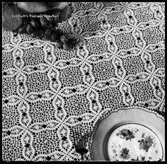 Crochet Tablecloth Patterns Craftfreebiescom