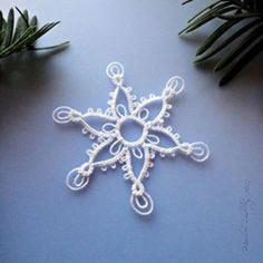 Pointed Snowflake With Double Picots