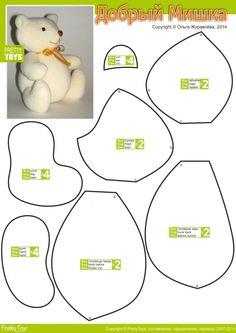 graphic about Printable Teddy Bear Patterns identify 96 Teddy Go through Models -