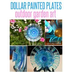 Painted Plates Garden Art