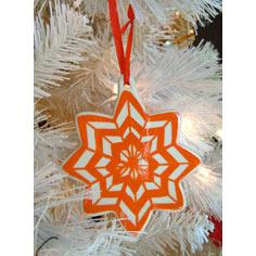 Painted Chevron Stripe Ornament