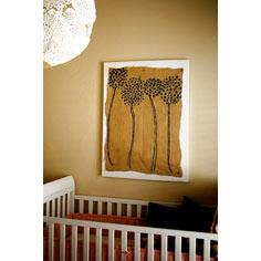 DIY Painted Burlap Wall art