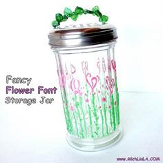 Flower Font Storage Jar