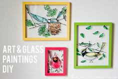 Art & Glass Paintings DIY