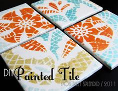 Painted Ceramic Tile Tutorial