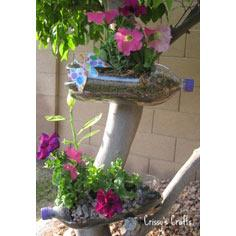 Recycled Soda Bottle Planter