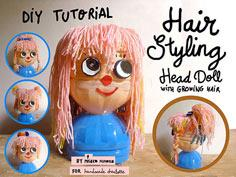 Plastic Bottle Hairstyling Doll