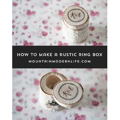 Rustic Ring Box for Wedding