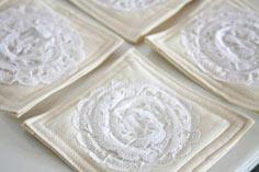 Lace Doily Coasters tutorial