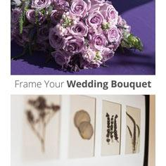 Frame Your Wedding Bouquet