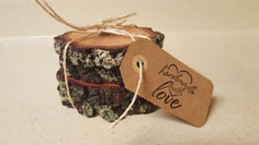 Wooden Coaster Wedding Favors