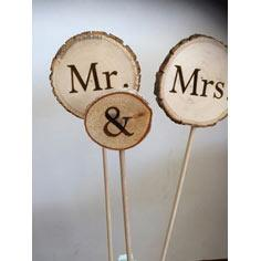 Wood Wedding Cake Toppers