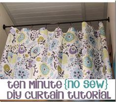 10 minute no sew curtain
