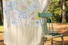 Vintage Bedsheet Fabric Patchwork Curtain