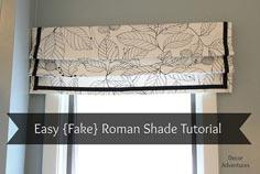How to Sew a Roman Shade