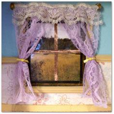 Realistic Dollhouse Lace Curtains