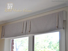 No Sew Rolled Window Valance