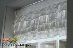 Layered Lace Valance Tutorial
